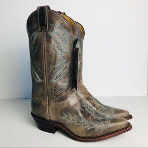 JUSTIN Bent Rail Boots Women's Size 7 Distressed